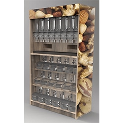 Food dispense displays, hout