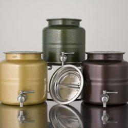 Food Dispense olijfolievaten gekleurd