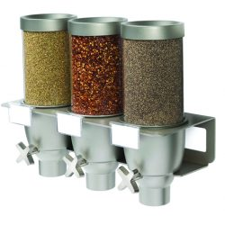 Rosseto triple topping dispenser set, less high