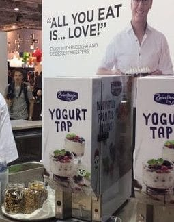 Electrical yoghurt dispense machine